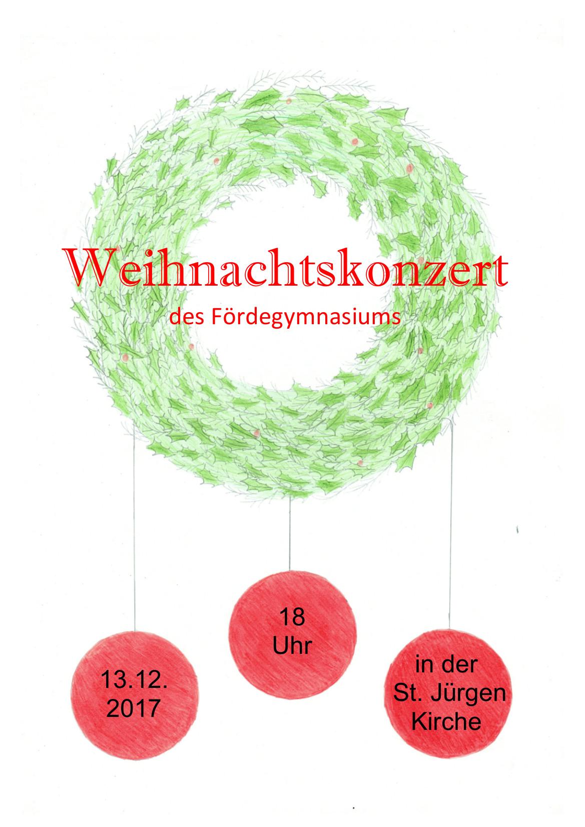 Plakate Für Das Weihnachts-Konzert