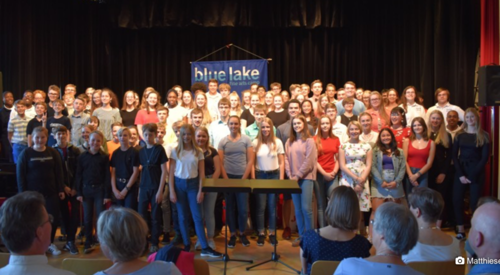 Die Blue Lake-Jugendbigband Aus Michigan Am Fördegymnasium