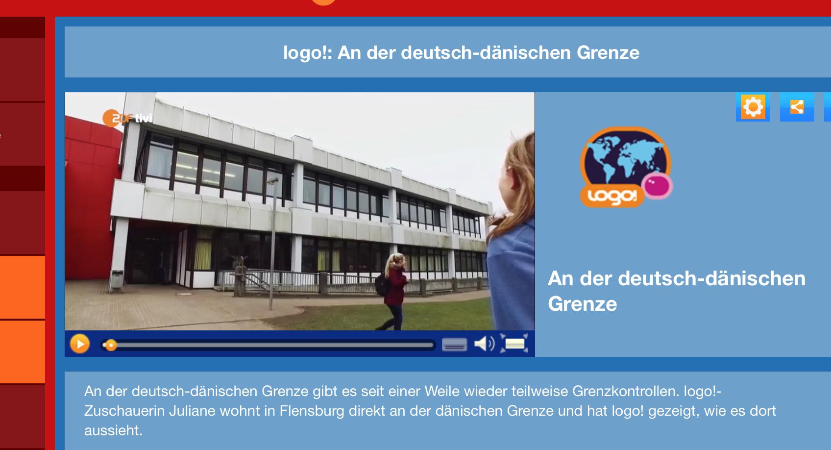 Das Fördegymnasium bei ZDF tivi